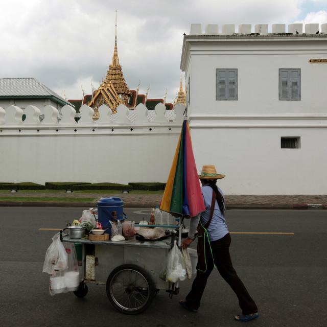 """""""ASIA THAILAND BANGKOK WAT PHRA KAEW STREETFOOD"""" stock image"""