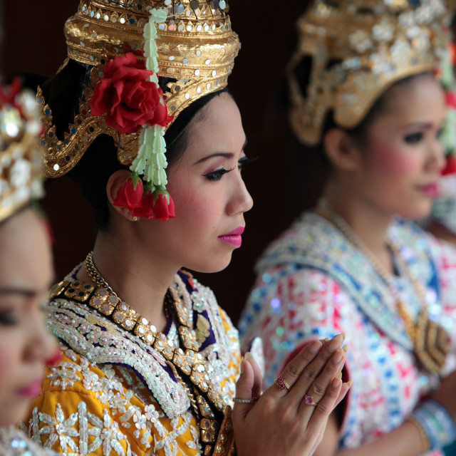 """ASIA THAILAND BANGKOK ERAWAN SHRINE THAI DANCE"" stock image"