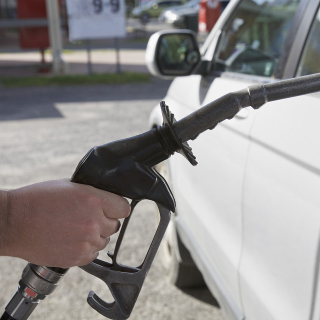 """Filling gas, station"" stock image"