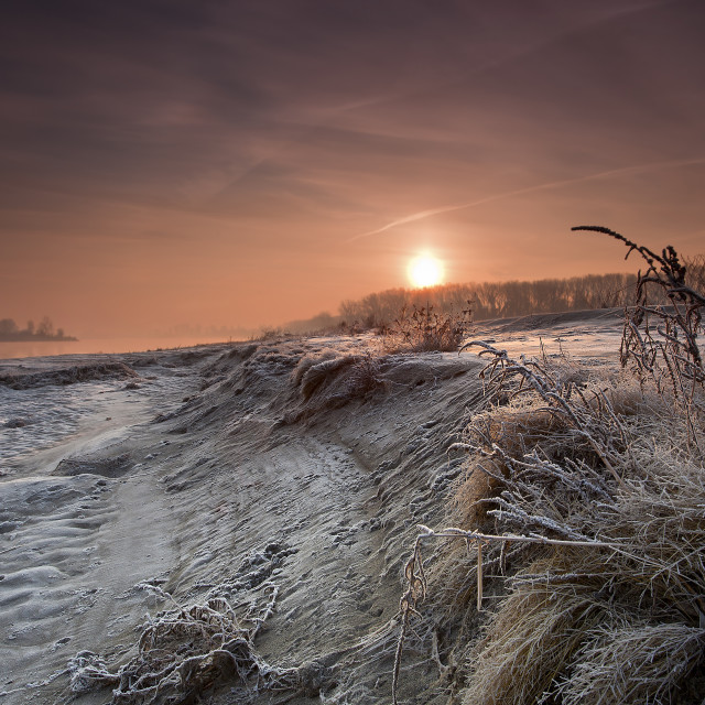 """""""Sunrise on the Po valley"""" stock image"""