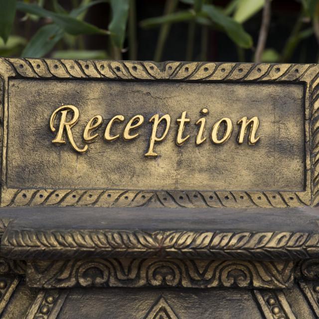 """ASIA MYANMAR BAGAN HOTEL RECEPTION"" stock image"