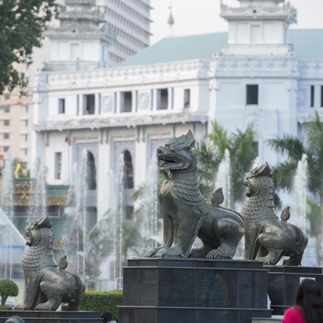 """ASIA MYANMAR YANGON MAHA BANDOOLA PARK"" stock image"