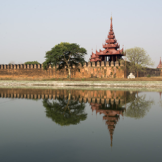 """ASIA MYANMAR MANDALAY FORTRESS WALL"" stock image"