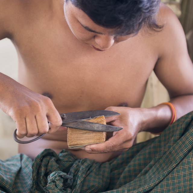"""ASIA MYANMAR MANDALAY GOLD POUNDER"" stock image"