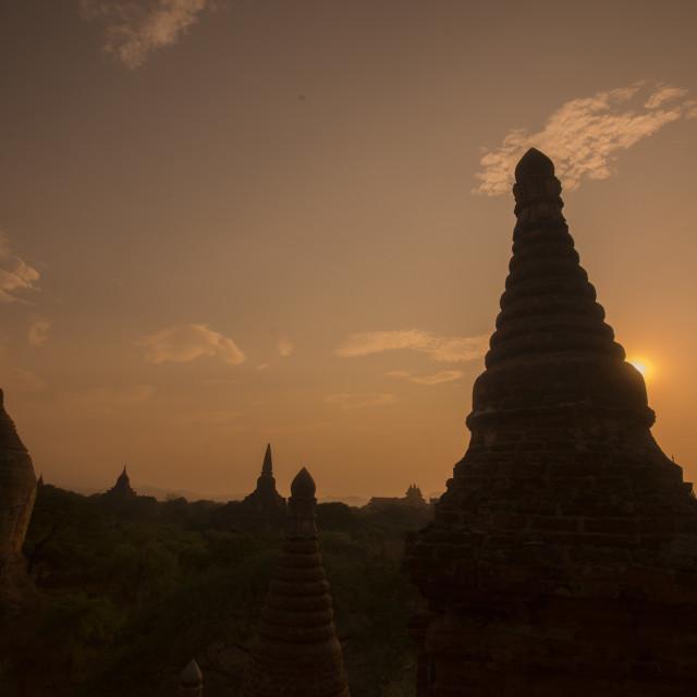 """ASIA MYANMAR BAGAN TEMPLE PAGODA LANDSCAPE"" stock image"