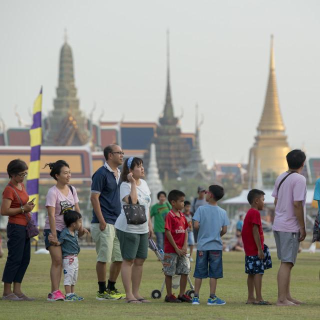 """ASIA THAILAND BANGKOK SANAM LUANG KITE FLYING"" stock image"