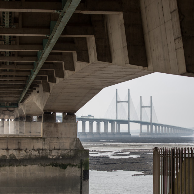 """The Severn Bridge"" stock image"