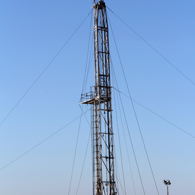 """""""oil drilling rig and equipment"""" stock image"""