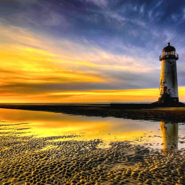 """""""Talacre Lighthouse"""" stock image"""