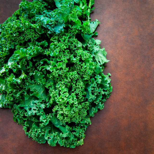 """Bunch of fresh raw kale plant"" stock image"