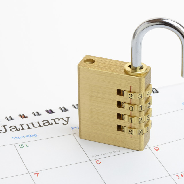 """Unlock the New Year"" stock image"