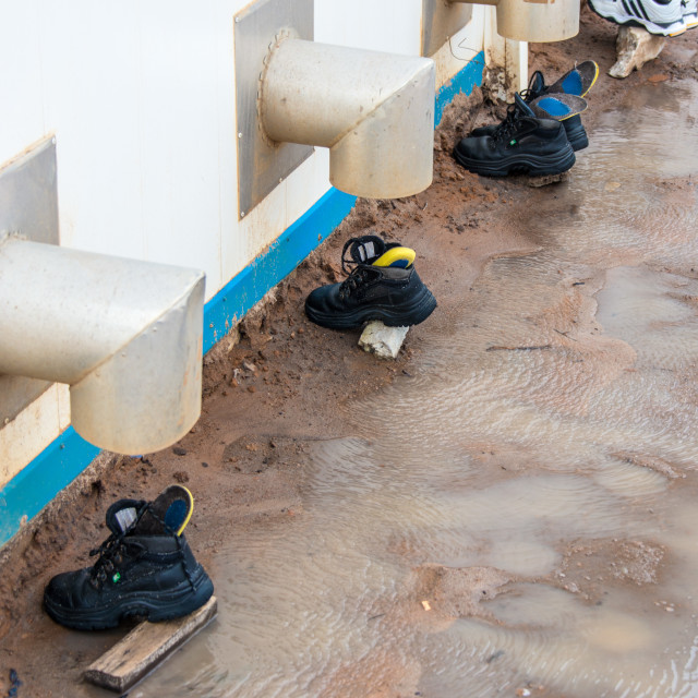 """""""Boot Drying"""" stock image"""