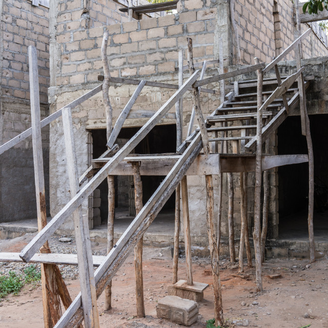 """""""Builders Stairs"""" stock image"""