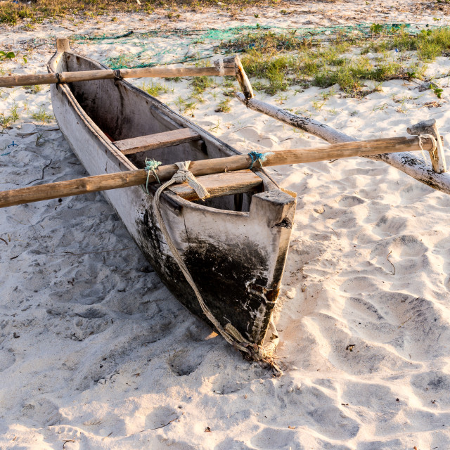 """""""Canoe with outriggers"""" stock image"""