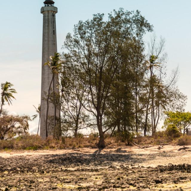 """""""Lighthouse at Farol, Cabo Delgado"""" stock image"""