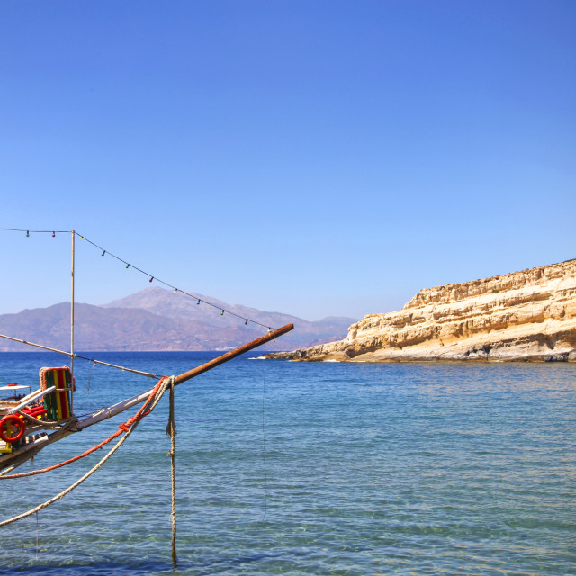 """Matala in Crete"" stock image"