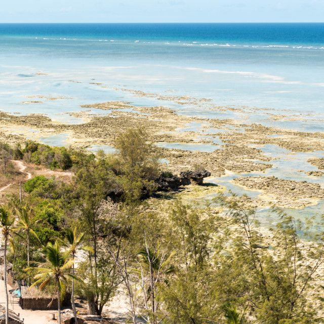 """Coastal Village in Mozambique 5"" stock image"