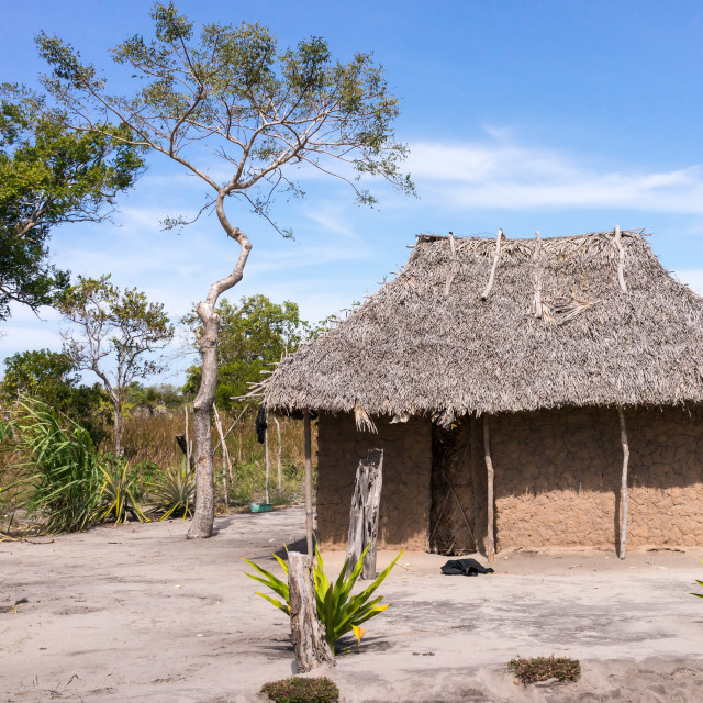 """Dwelling in Northern Mozambique"" stock image"