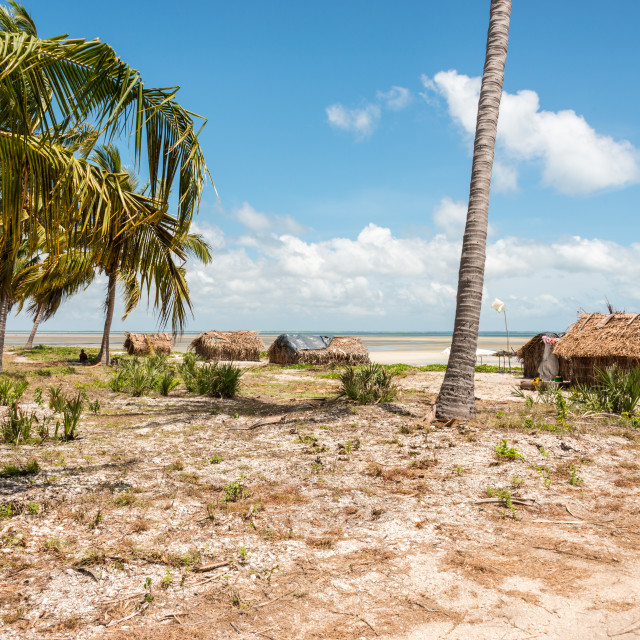 """Coastal Village in Mozambique 7"" stock image"