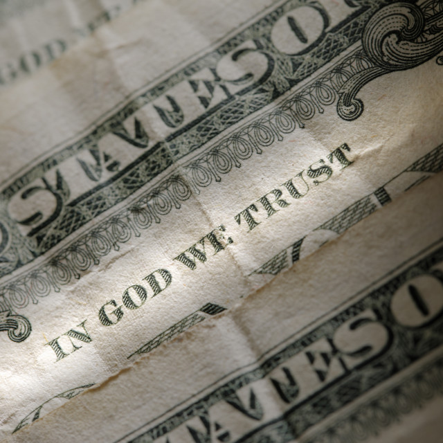 """In God We Trust"" stock image"