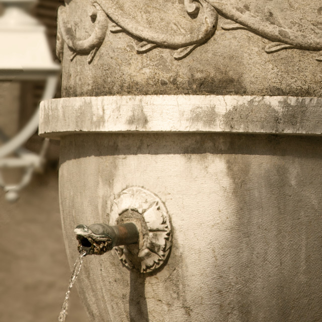"""Fountain in St Paul de Vence"" stock image"