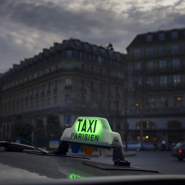 """Paris Taxi"" stock image"