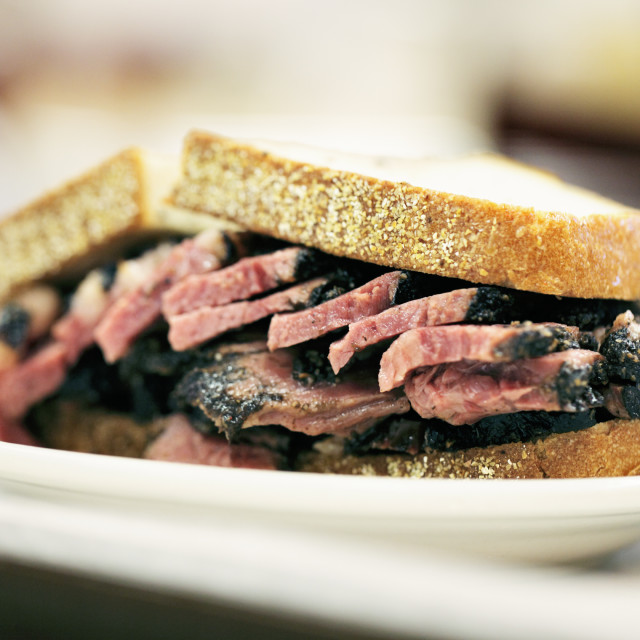 """Pastrami on Rye"" stock image"