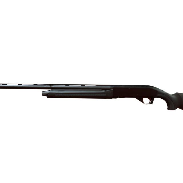 """black shotgun isolated on white"" stock image"