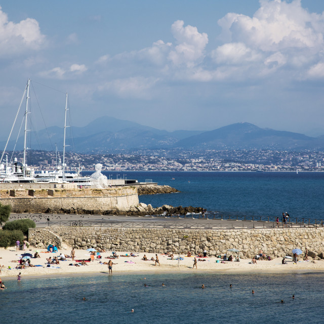 """Beach at Antibes France"" stock image"
