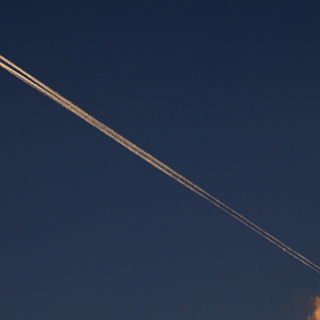 """""""Cloud and plane"""" stock image"""