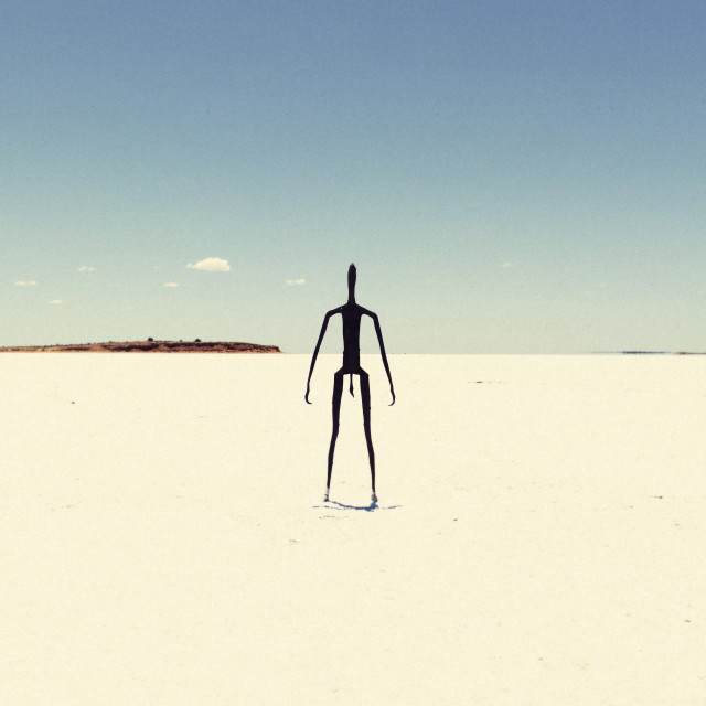 """Lake Ballard"" stock image"