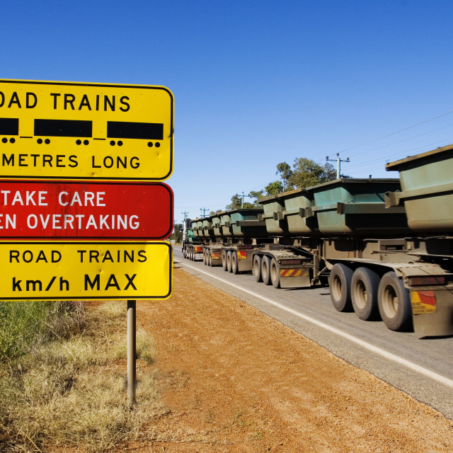 """Road Train"" stock image"