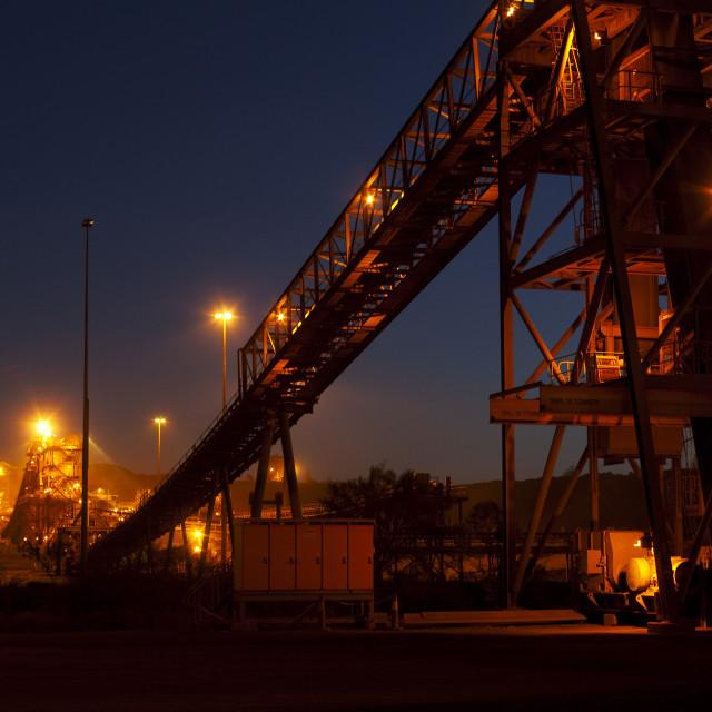 """Night Shot of Conveyor"" stock image"