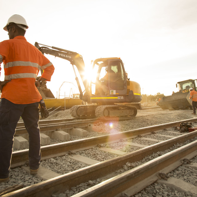 """Rail Work"" stock image"