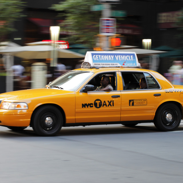 """New York Taxi"" stock image"