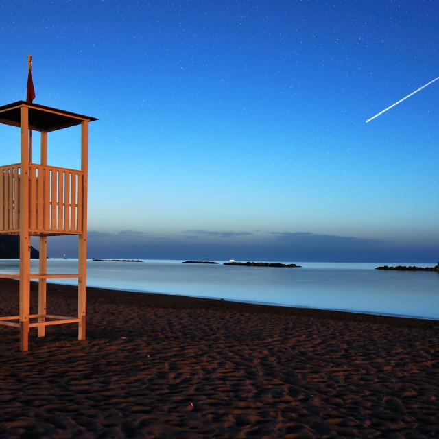 """Night on the beach"" stock image"