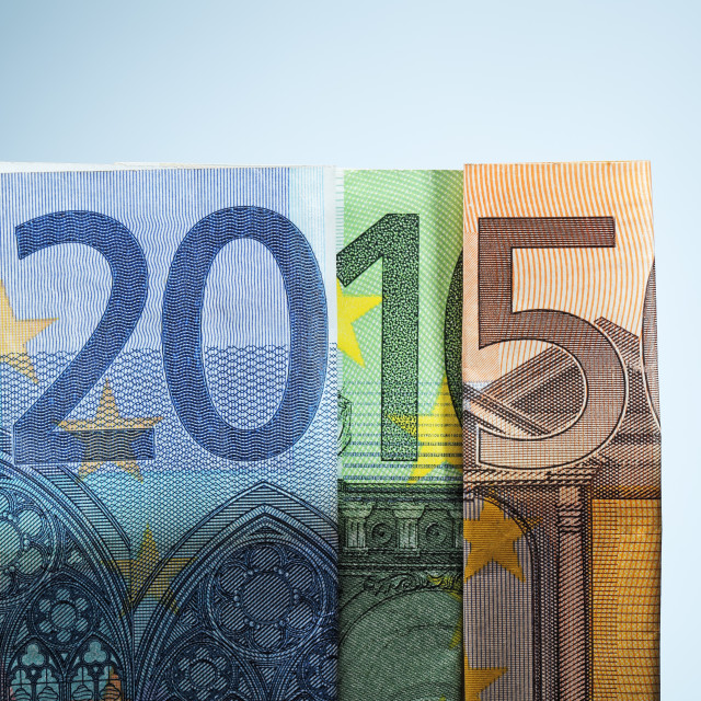 """Financial year 2015"" stock image"