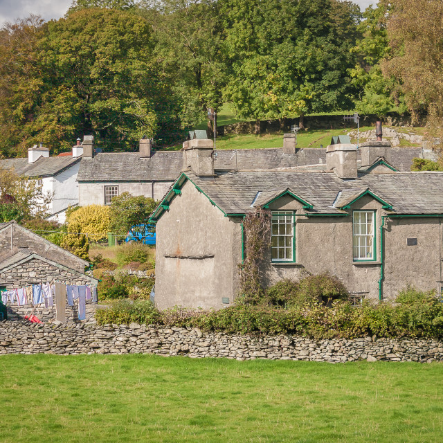 """Hill Top, Sawrey in Cumbria"" stock image"