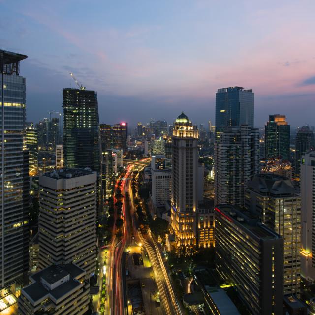 """Jakarta Twilight"" stock image"
