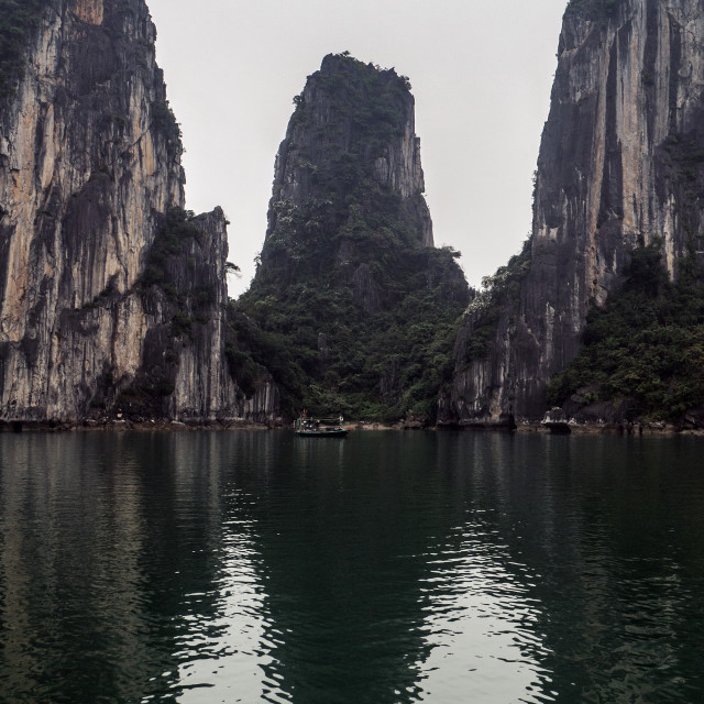 """Halong Bay Rock Forest Islands"" stock image"