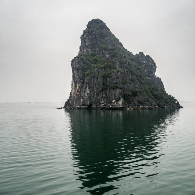 """Halong Bay Rock Island"" stock image"