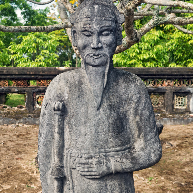 """Statue, Imperial Tomb of Emperor Thieu Tri, Hue"" stock image"