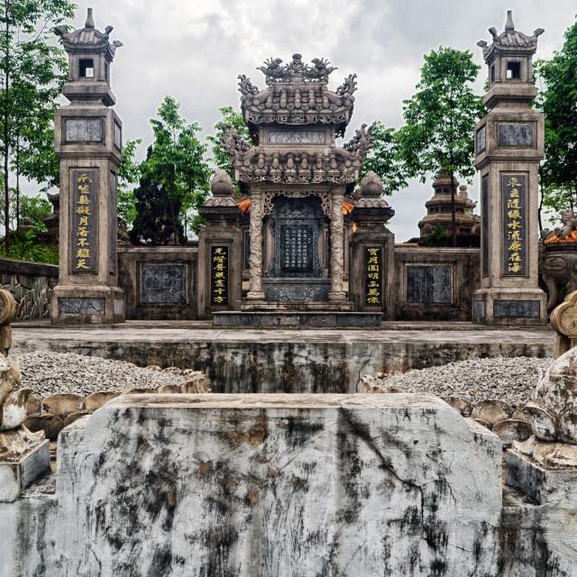 """""""Tomb in Hue Graveyard, Vietnam"""" stock image"""