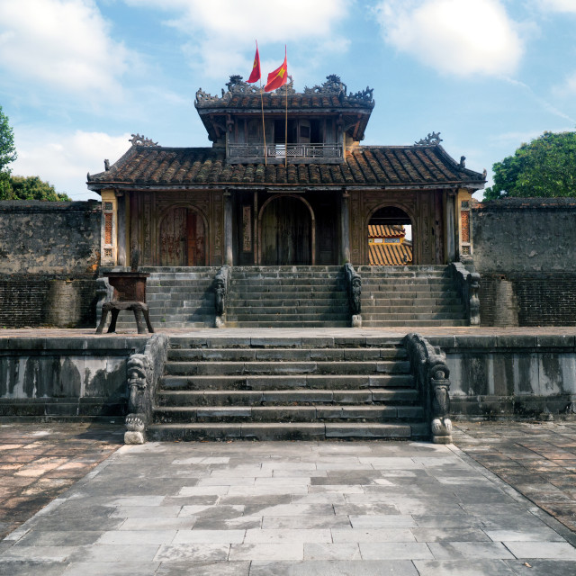 """Imperial Tomb of Emperor Thieu Tri, Hue, Vietnam"" stock image"
