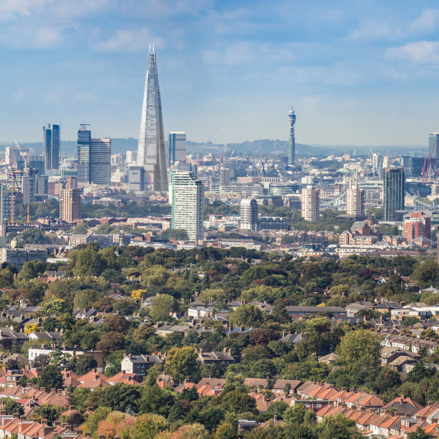 """London Skyline Panorama"" stock image"