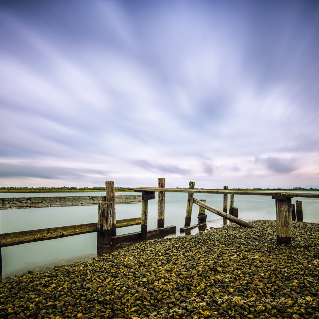 """Passing Clouds on The Foreshore"" stock image"