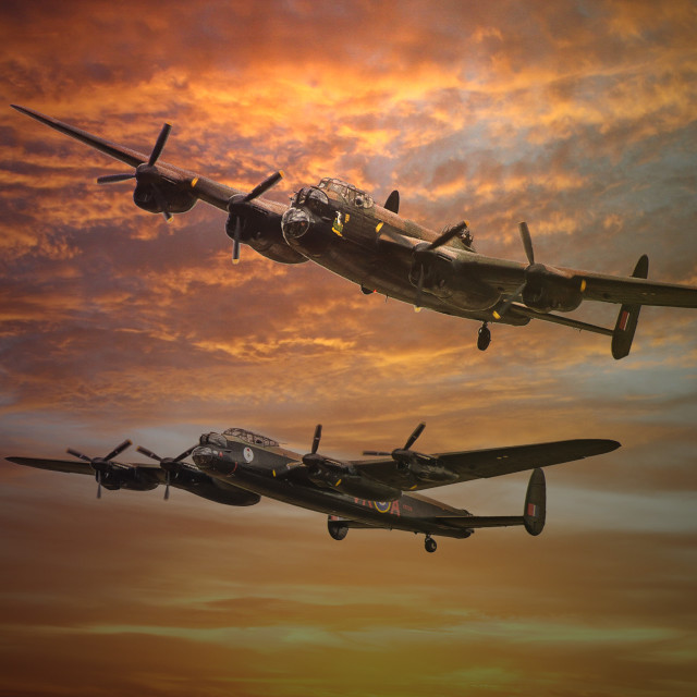 """""""The Two Lancasters"""" stock image"""