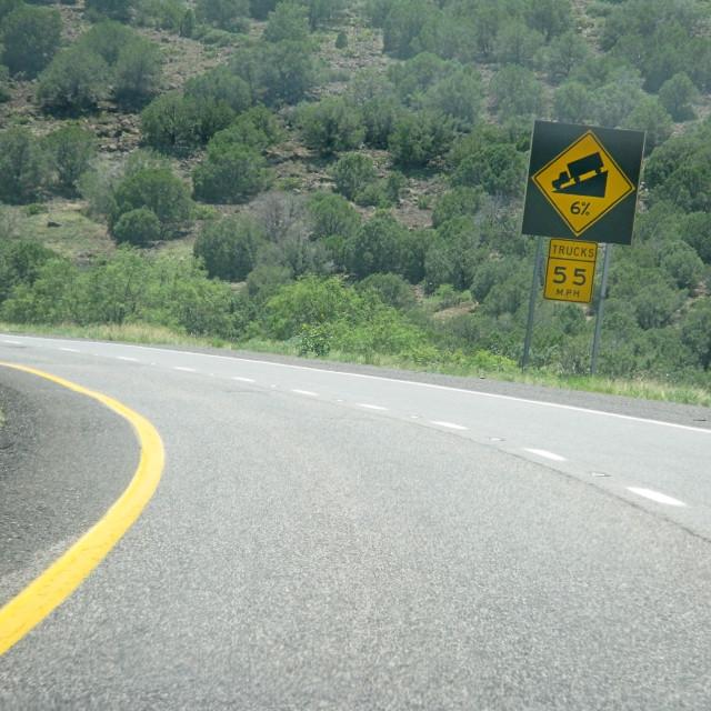 """""""Steep road ahead"""" stock image"""