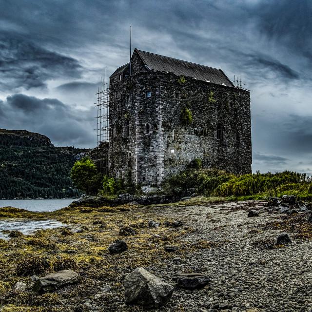 """Castle Carrick Loch Goil"" stock image"