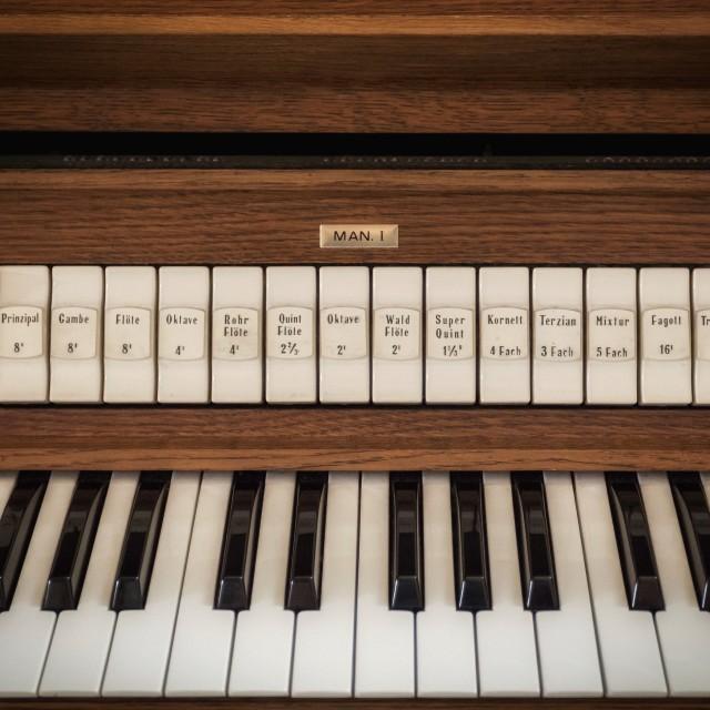"""Organ keyboard"" stock image"